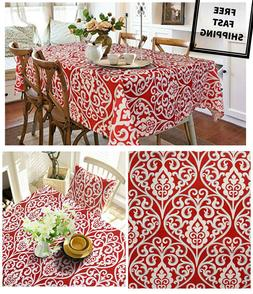 New Dining Easter Spring Tablecloth Vintage Printed Spill Pr