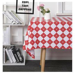 New Dinning Easter Spring Holiday Red & White Checkered Tabl