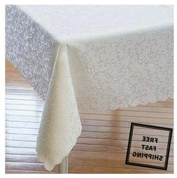 New Dinning Holiday Tablecloth Linen Stain Resistant for Chr