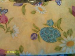 """New Easter Tablecloth Fabric 60"""" x 102"""" Linen Look Soft Spri"""