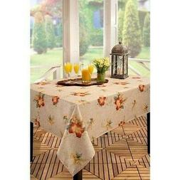 "NEW BENSON MILLS FABRIC CROCODILE HIBISCUS TABLECLOTH 52""X70"