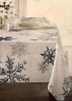new falling snow tablecloth textured christmas holiday