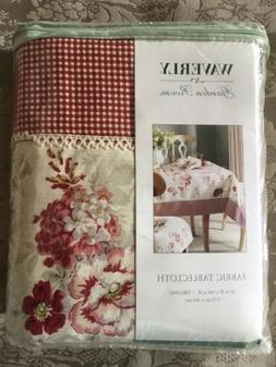 "NEW Waverly Garden Room Norfolk Rose Oblong Tablecloth 60"" x"