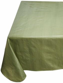 NEW Green Vinyl Tablecloth - Fitted Tablecloth - Flannel Bac