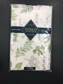 ~NEW~ Elrene Home Fashion Vinyl Tablecloth ~ Herbs ~ 52in X