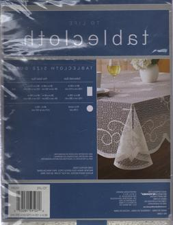 NEW IVORY LACE JEWISH/STAR OF DAVID TABLECLOTH