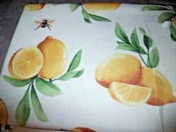 """NEW LEMONS & BEES TABLECLOTH 70"""" Round FABRIC Spring Water &"""