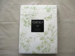 NEW Ralph Lauren Linen Tablecloth Spring Floral & Birds Gree