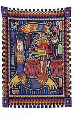 New Ambesonne Mexican Tablecloth Aztec Culture Pattern Ethni
