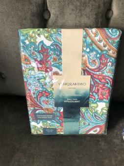 NEW Cynthia Rowley Outdoor spillproof fabric Tablecloth 60 x