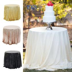 New Sparkle Table Cloth Round Bling Sequin Tablecloth Cover