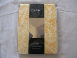 NEW Ralph Lauren Tablecloth Cottage Leaves Gold & White  Siz