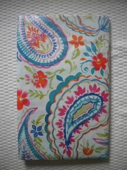 "New Summer Fun Vinyl Tablecloth Paisley Floral Theme 52"" Squ"