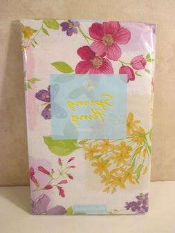 NIP ELRENE Pink Yellow Floral Party Kitchen Vinyl Tablecloth