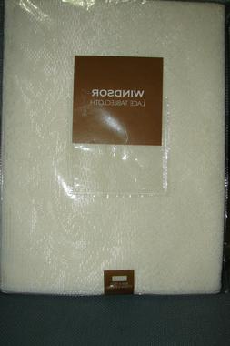 NIP windsor  Lace tablecloth 70 INCH IVORY ROUND