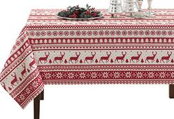 "60x120"" Christmas Herringbone Printed Tablecloth Home Christ"