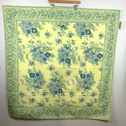 NWT April Cornell Tablecloth Yellow & Blue Classic Florals 5