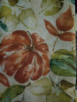 Oblong Rectangle  Tablecloth Fabric Holiday Harvest Leaves g