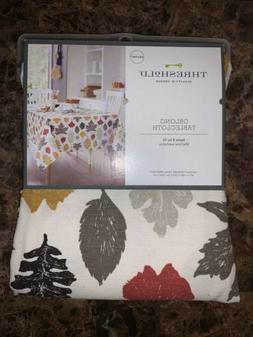 """Threshold Oblong Tablecloth 60"""" x 104"""" Autumn Leaves Machine"""