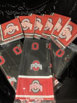 Ohio State Party Pack  120 Napkins And 3 Tablecloths Neb