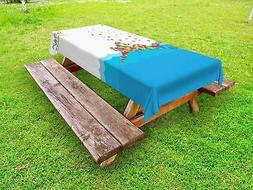 Olympics Outdoor Picnic Tablecloth in 3 Sizes Washable Water