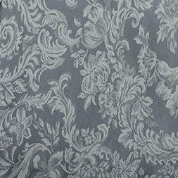 Oval Pewter grey Damask Tablecloth   cotton blend 6 sizes