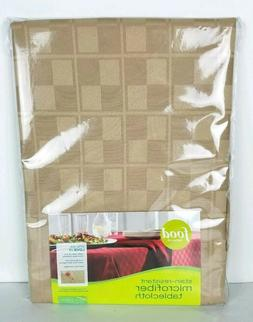 Food Network Oval Tablecloth Microfiber Stain Resistant 60x8