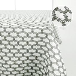 Deconovo Oxford Moroccan Print Spillproof Fabric Tablecolth