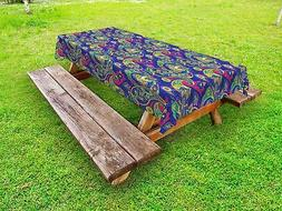 Paisley Outdoor Picnic Tablecloth Classic Persian Welsh Prin