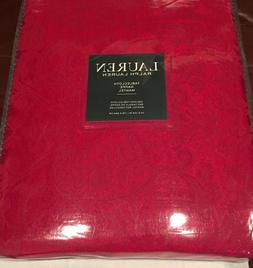 "Ralph Lauren PAISLEY RED Damask 70 x 104"" Tablecloth--NWT"