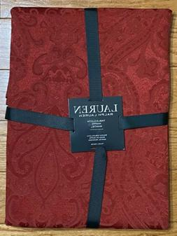 """Ralph Lauren Paisley Red Tablecloth 70"""" Round... Brand New"""