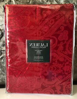 Ralph Lauren Paisley Red Tablecloth, 70-by-120 Inch Oblong R