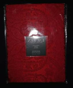 Ralph Lauren Paisley Red Tablecloth 70 x 84