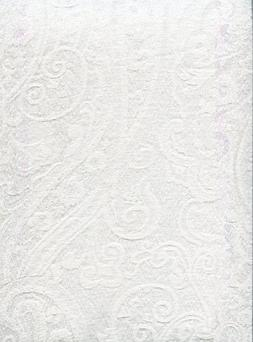 Ralph Lauren Paisley White Tablecloth, 70-by-104 Inch Oblong