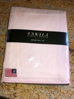 Ralph Lauren Pale Pink 100% cotton Tablecloth USA Flag Logo