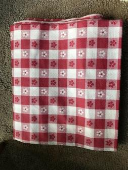 """Paper Red& White Checkered Tablecloth 56""""x98"""""""