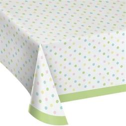 "Pastel Dots Plastic Banquet Tablecloth Size: 54"" x 102"" East"