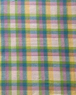 pastel plaid tablecloth 60 x 84 oval