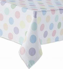 Celebrate Together Pastel Polka Dot Tablecloth, Woven Fabric