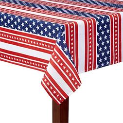 Patriotic Red White and Blue Stars and Stripes Print Fabric
