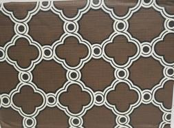 """Peva Flannel Back Tablecloth, 60"""" x 84"""" Oblong, BROWN & WHIT"""