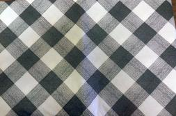 "PEVA Vinyl Tablecloth 60"" ROUND  BLACK & WHITE SQUARES by BH"