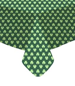 St. Patricks Day PEVA Vinyl Tablecloth Flannel Backed 52 x 9