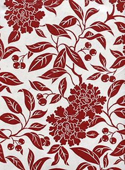 pineview red cotton tablecloth