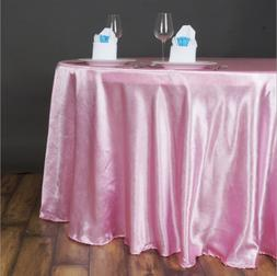 """PINK 120"""" LILY EMBOSSED SATIN ROUND TABLECLOTH Wholesale Wed"""