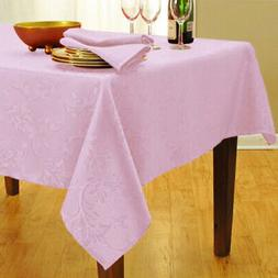Pink Bella Round Tablecloth 70 inches Damask Fabric Kitchen