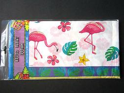 Pink Flamingo Fun Colorful Lightweight Plastic Table Cover 5