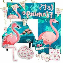 Pink Gold Flamingo Party Tableware Decoration Birthday Hen D