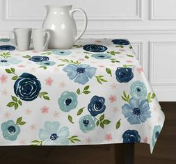 Pink Green Blue Watercolor Rectangle Tablecloths Dining Room
