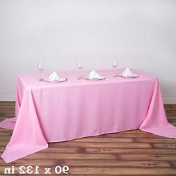 """PINK Polyester 90x132"""" Rectangle TABLECLOTHS Wedding Party S"""